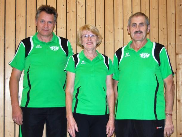 Sportabzeichenprüfer: Josef Zeitler, Marianne Decker, Alois Kiendl